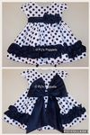 BABY GIRLS BIG BOW FRILLY DRESS COUCHE TOT 3 6 9 12 18